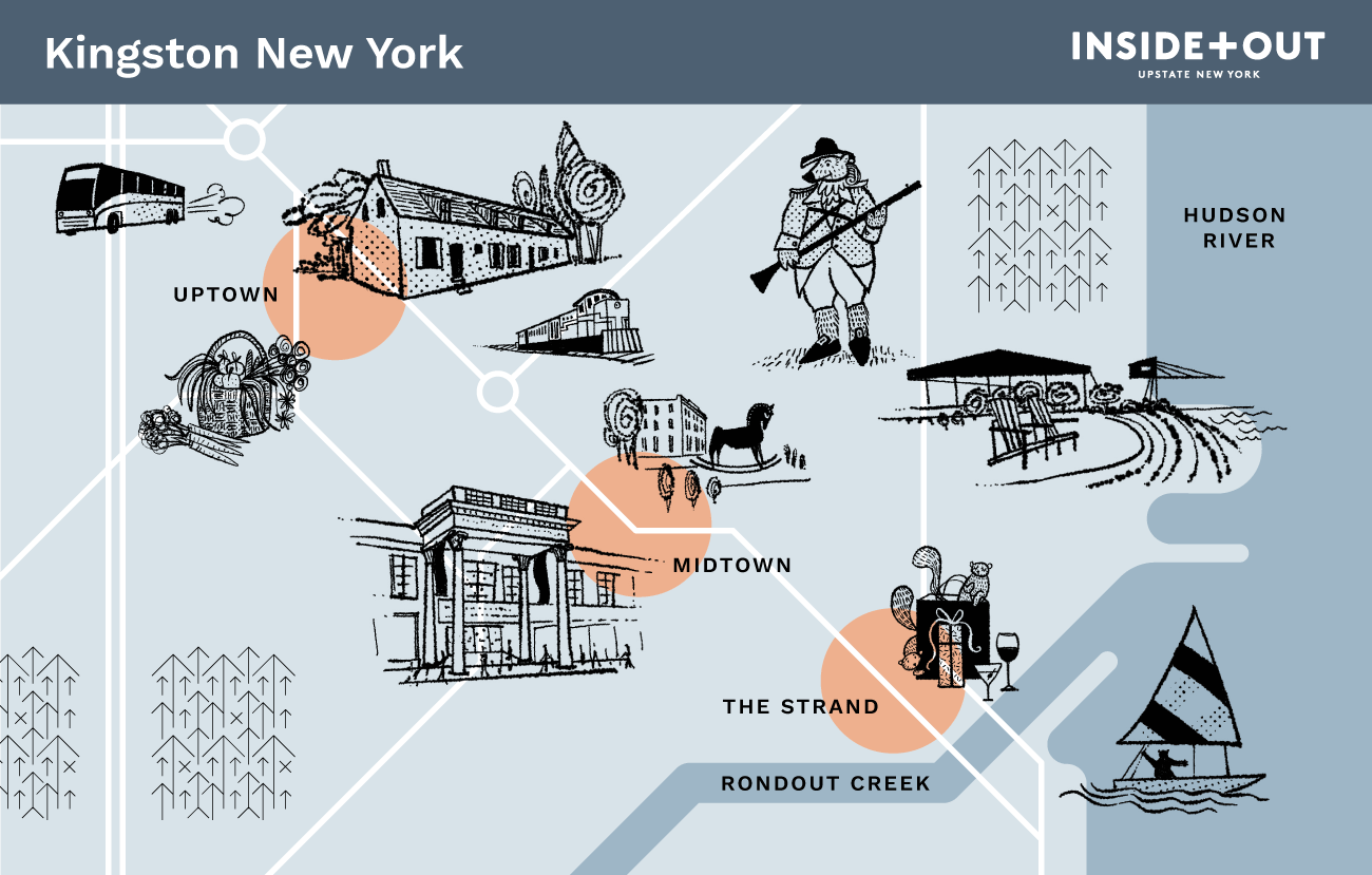 Inside+out Map of Kingston NY
