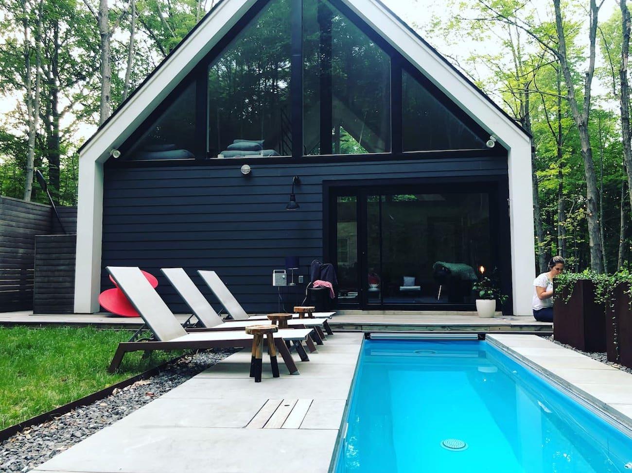 Modern luxury cabin Woodstock NY