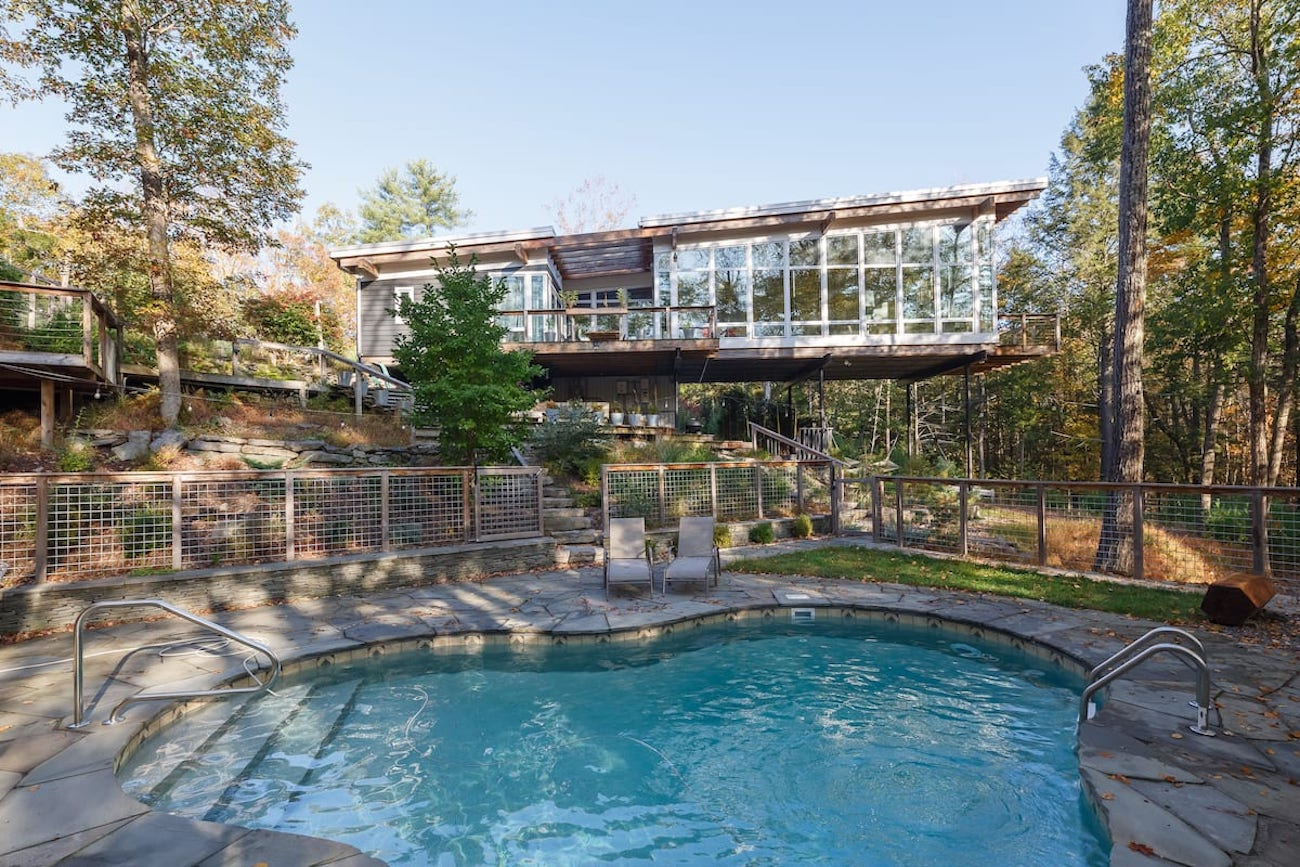 Sustainable Home Treehouse Geothermal Architect Design Woodstock NY