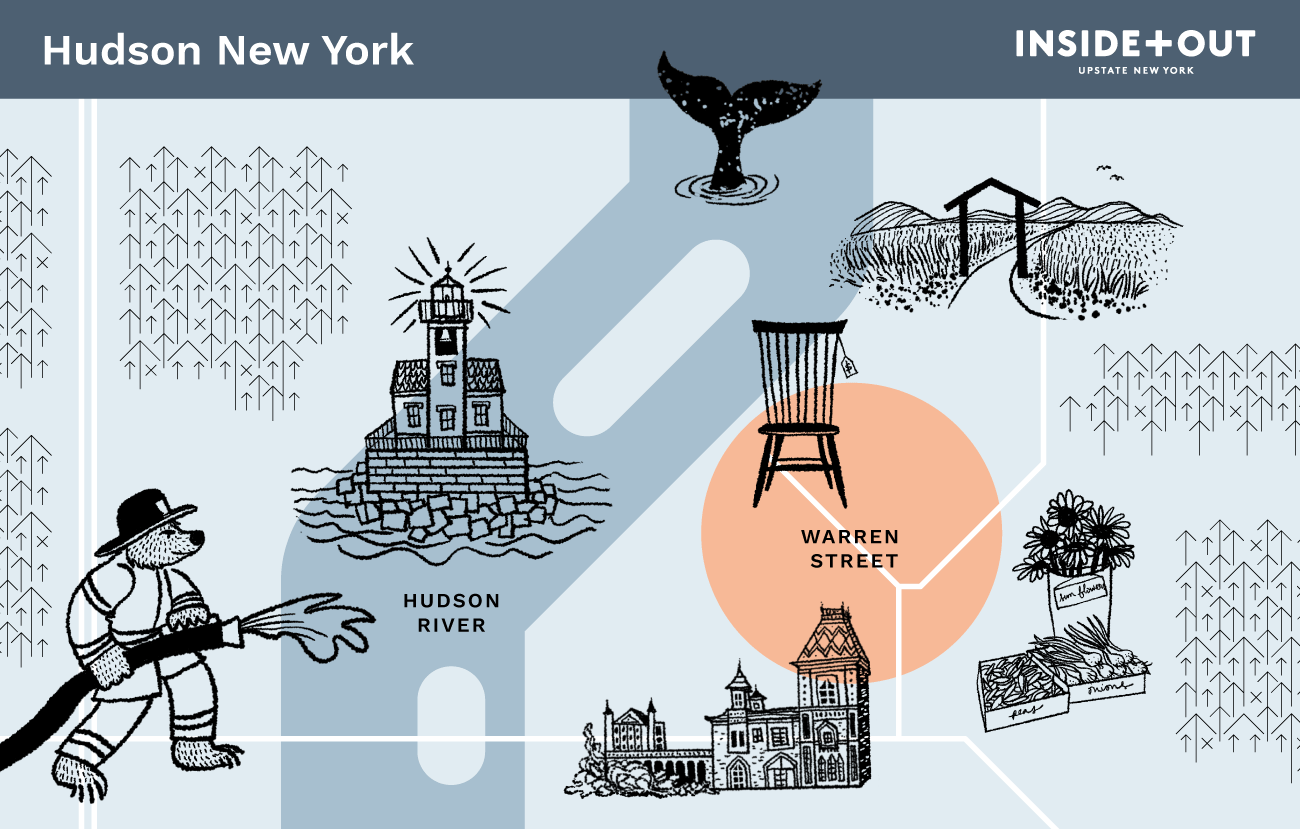 Inside+Out Map of Hudson NY