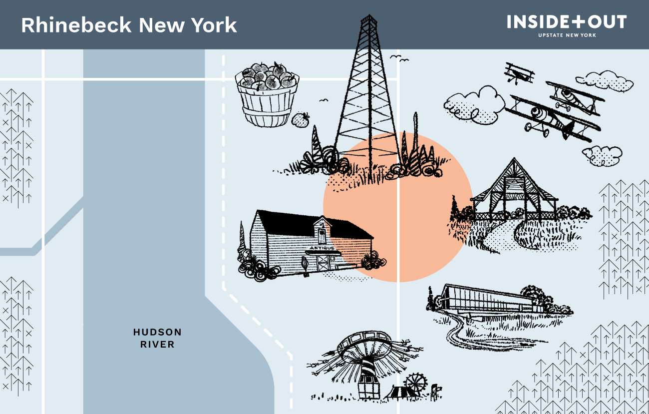 Inside+Out Map of Rhinebeck NY